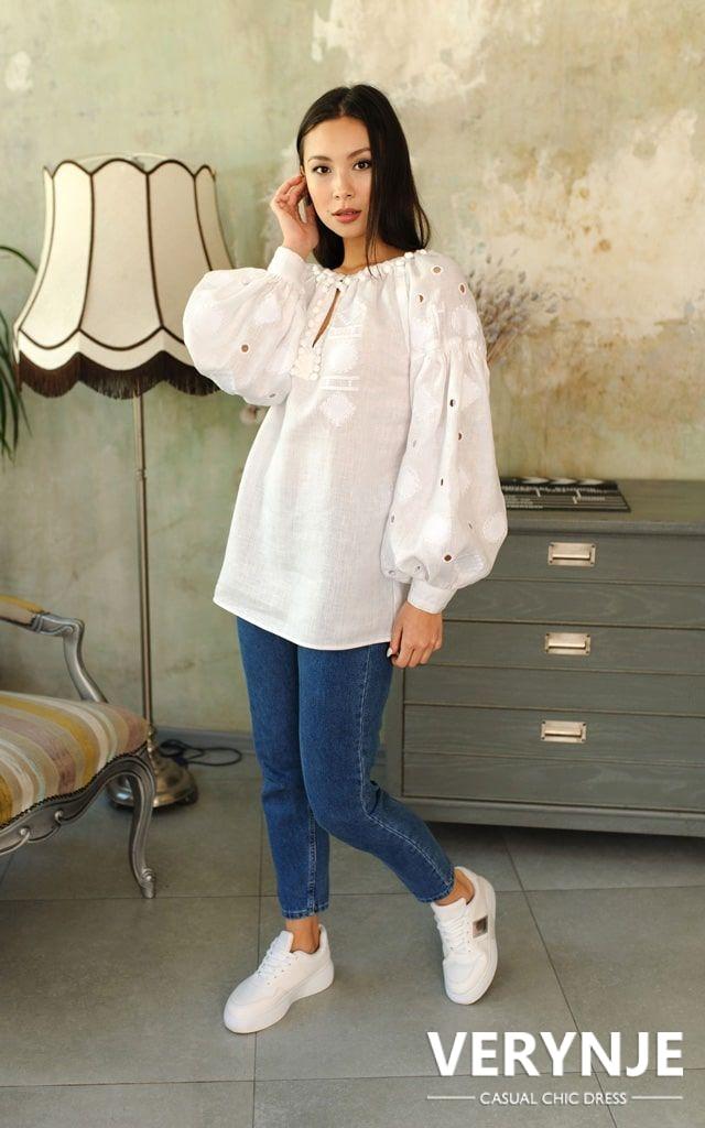 Блуза «Марокко» белое на белом