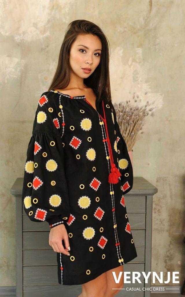 Платье «Марокко» черное короткое