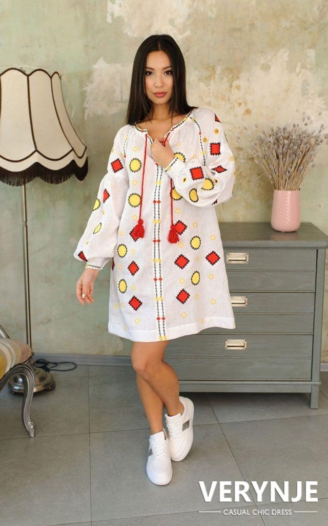 Платье «Марокко» белое короткое