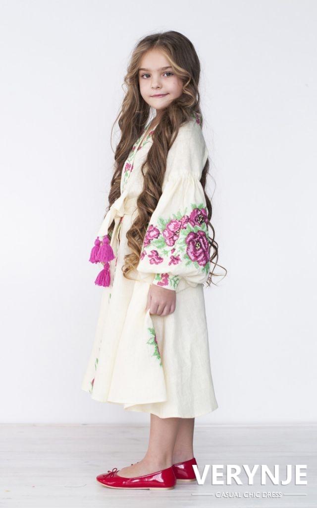 Платье «Розмай» детское молочное
