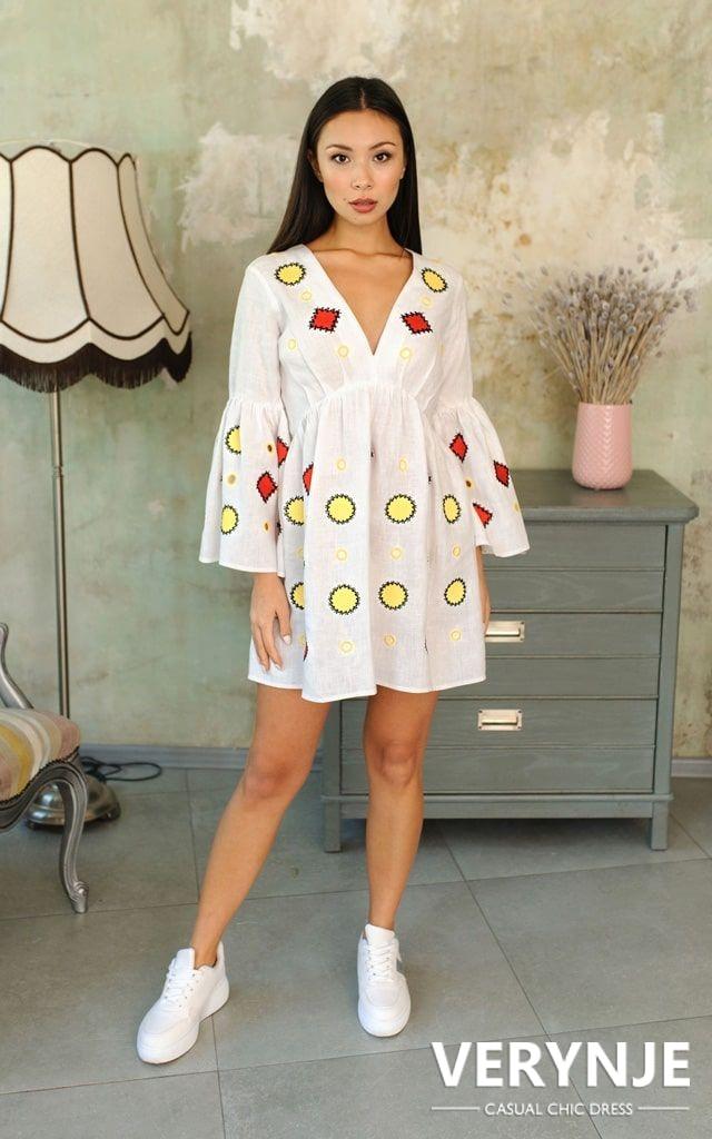 Платье «Марокко» белое с открытой спиной