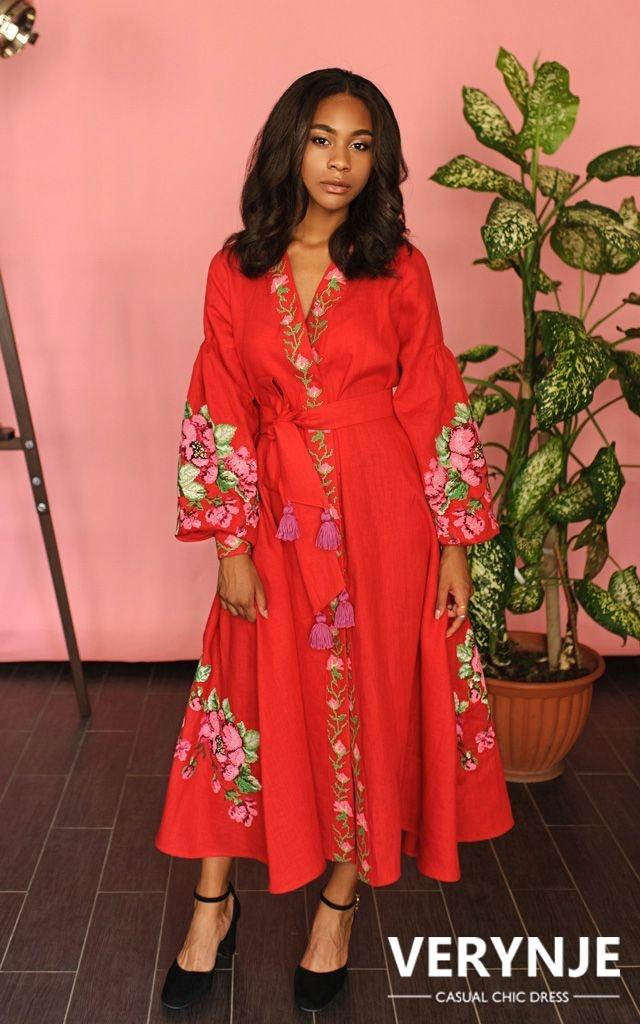 Платье «Розмай» красное