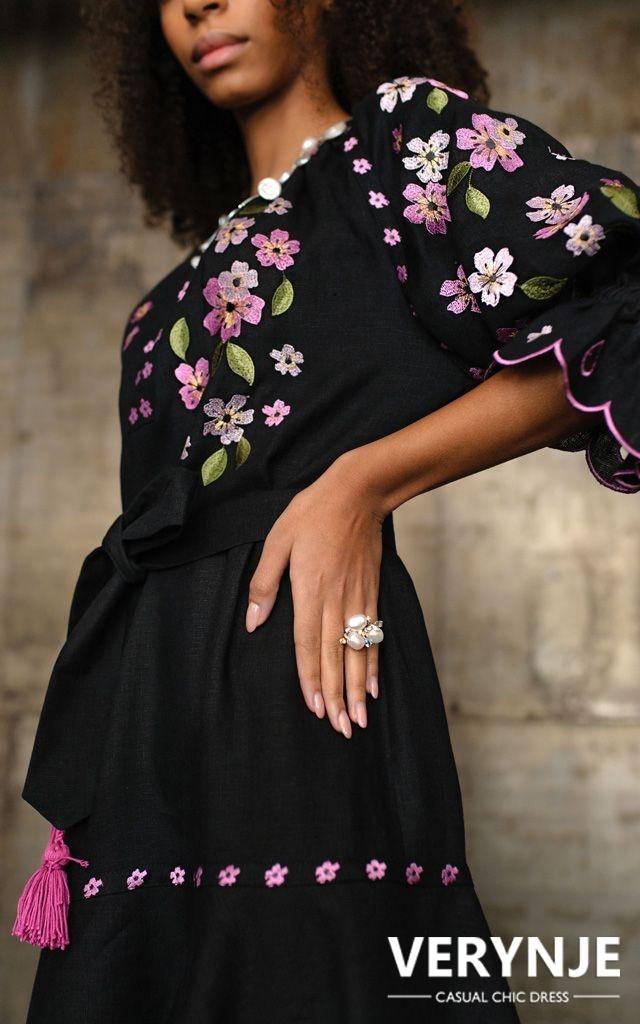 Платье «Сакура» черное