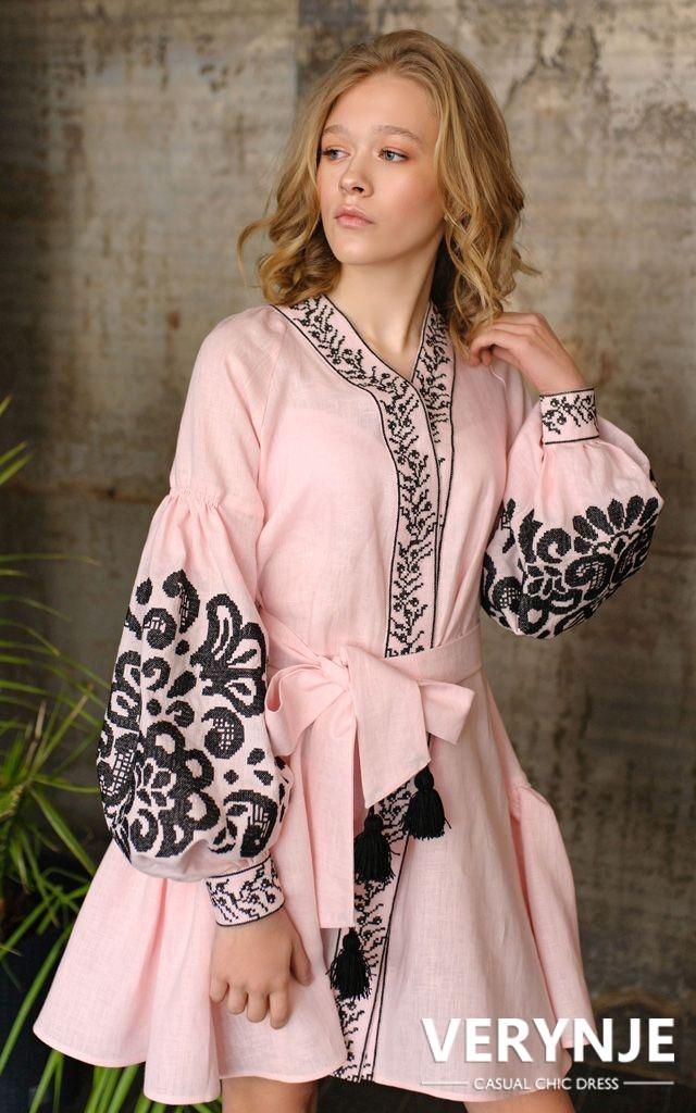 Платье «Древо жизни» розовое