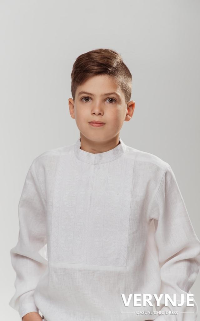 Детская вышиванка «Благо» Белая