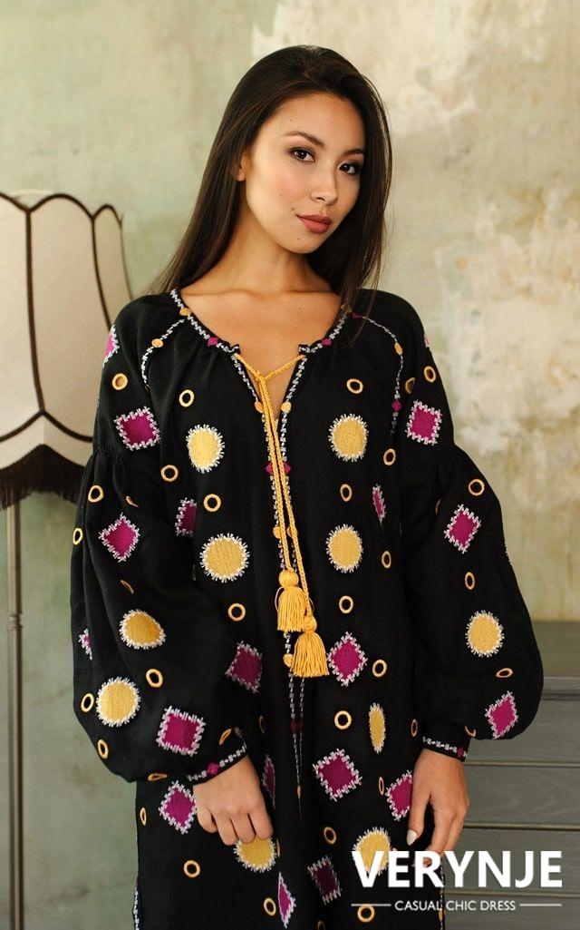 Платье «Марокко» черное длинное