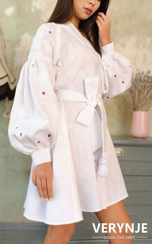 Платье «Марокко» белое на белом