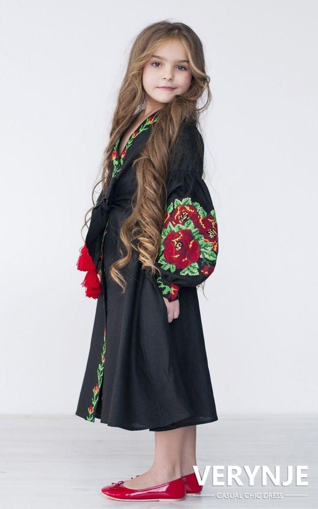 Платье «Розмай» детское черное