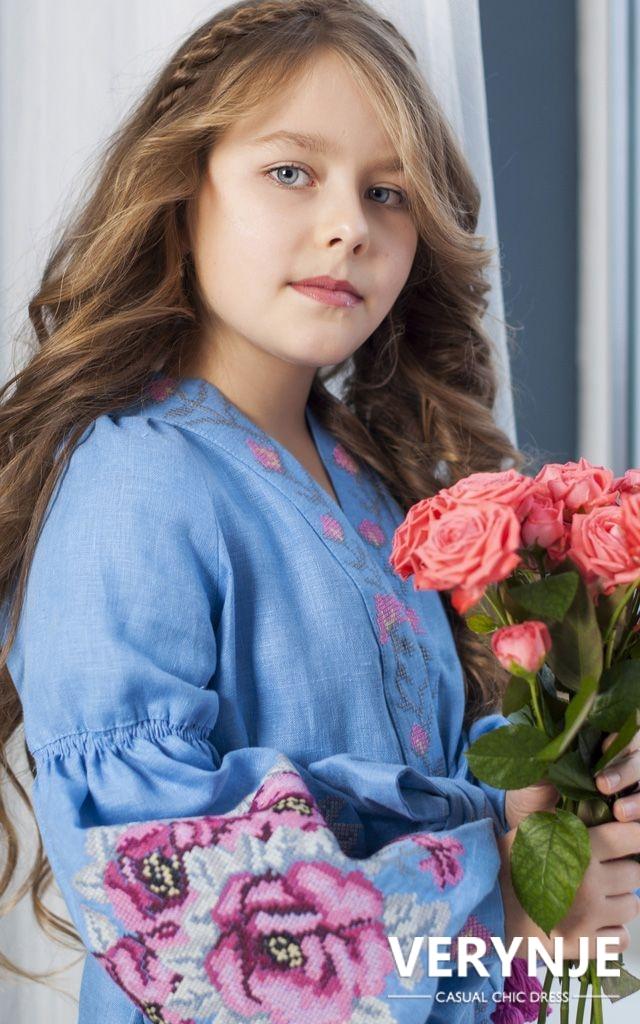 Платье «Розмай» детское голубое
