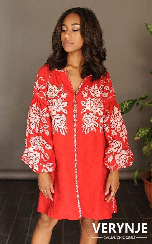 Платье «Дикая роза» красное