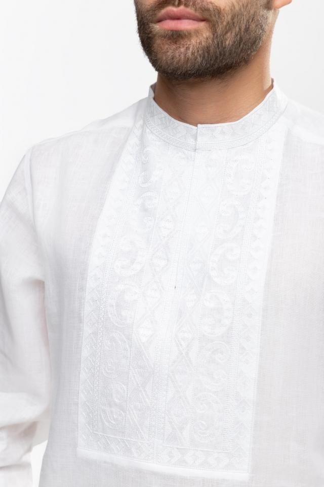 Мужская вышиванка «Благо» Белая